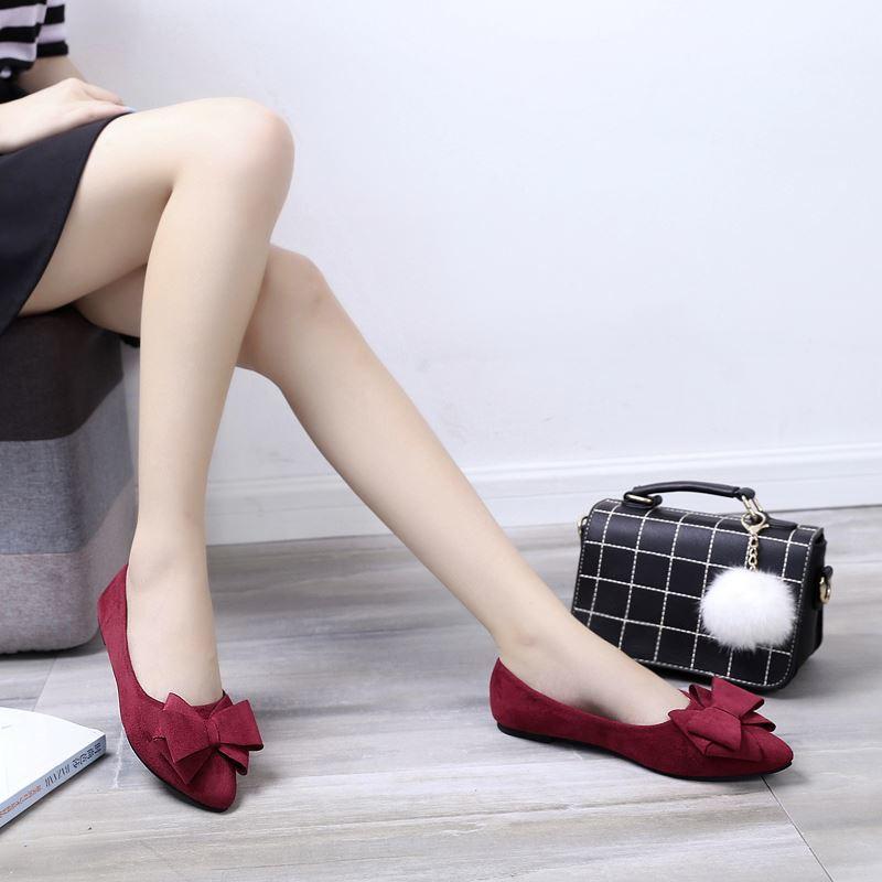 รองเท้าผู้หญิง🌸รองเท้าคัชชูเปิดส้น🌸รองเท้าคัชชู หัวแหลม องเท้าลำลอง🌸รองเท้าทำงาน ทันสมัยทรงสวย รองเท้า