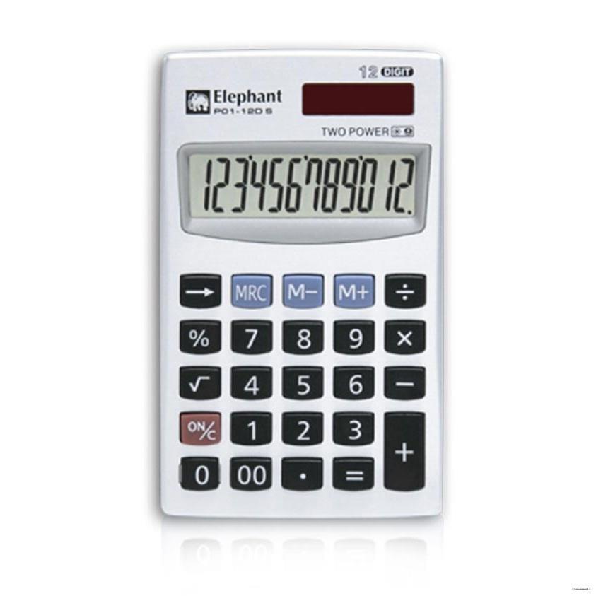 ยางยืดออกกําลังกาย❉♨♨ELEPHANT Portable Calculator เครื่องคิดเลขพกพา #P01-12D S มาพร้อมกับปลอก (ประกันศูนย์ 1 ปี)