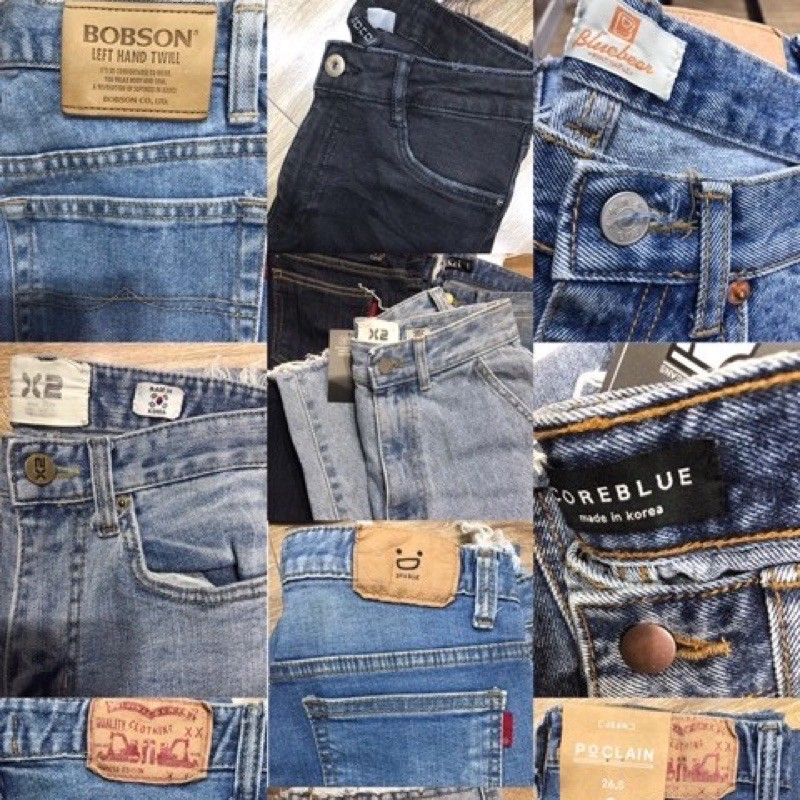 [รหัส ข] กางเกงยีนส์เกาหลีนำเข้า จัดโปรโมชั่น 150฿ทุกตัว (ปกติ390฿) สินค้าไลฟ์สดจ้า