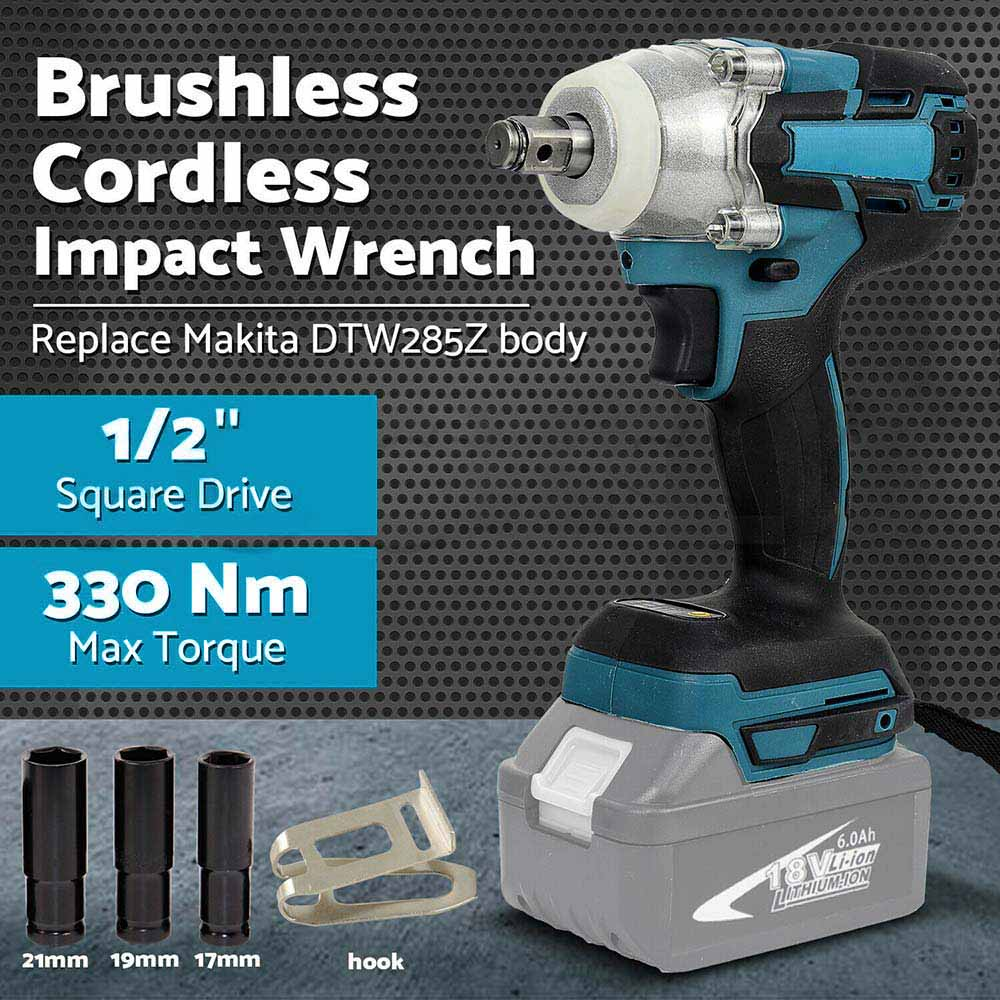 "Details about  For Makita DTW285 18V Li-ion Cordless Brushless Impact Wrench 1/2"" Body Only"