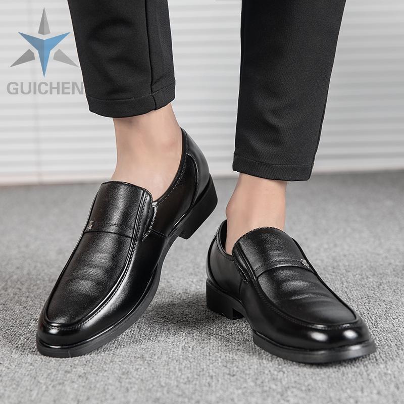 GC⚡ รองเท้า รองเท้าหนังแฟชั่น รองเท้าคัชชู รองเท้าโลฟเฟอร์ ผู้ชาย รองเท้าหนังแท้ loafer รองเท้าหนังแบบผูกเชือก 02
