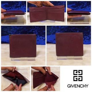 Review 👝: GIVENCHY Brown Leather Bifold Short Wallet Vintage แท้💯%