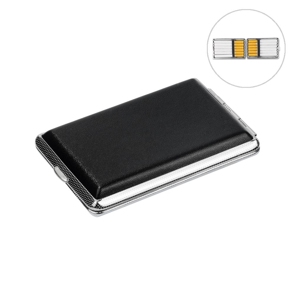 กล่องซิการ์:WITUSE Cigarette Case B Metal Leather Cigarette Box Case Holder Collection