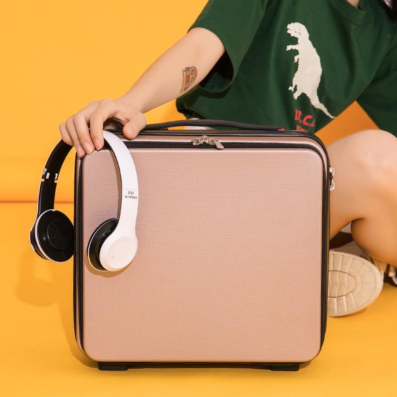กระเป๋าเครื่องสำอางค์พกพา  กระเป๋าเดินทางแต่งหน้ากระเป๋าเดินทางขนาดเล็กกล่องมินิ16กล่องรหัสผ่านนิ้วกระเป๋าเดินทางน้ำหนัก