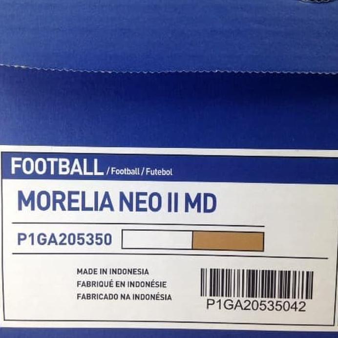 รองเท้าฟุตบอล Mizuno Morelia Neo Ii Md สีขาวทอง P1ga205350