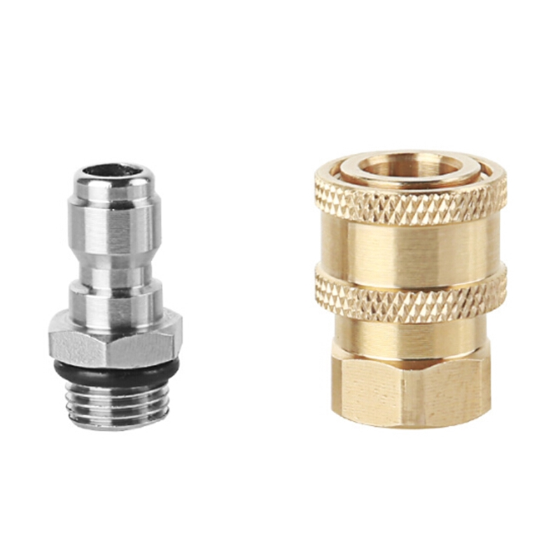 """M22 Male to 1//4/"""" Male Coupling Connector BRASS Pressure Washer Hose Adapter"""
