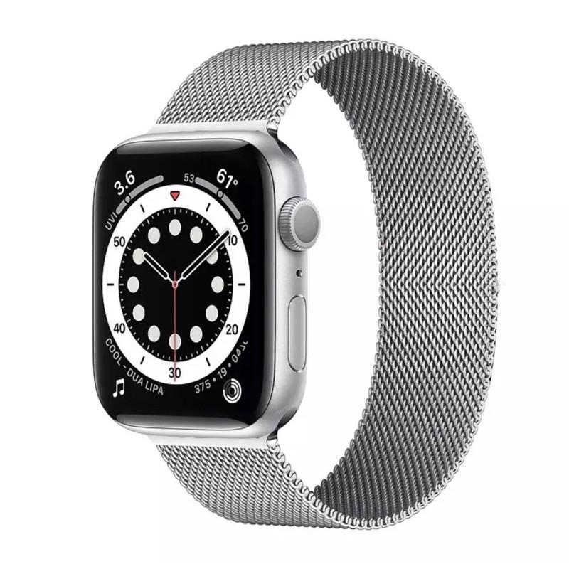 🔥💖🌟☇☽✗พร้อมส่งจากไทย สายStainless Steel สำหรับ AppleWatch มีให้เลือก 6 สี ใส่ได้ทั้ง series SE/6/5/4/3/2/1