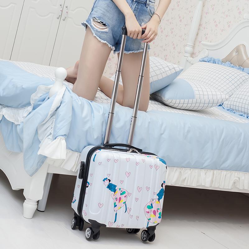 ♤♤ กระเป๋าเดินทางล้อลากใบเล็ก กระเป๋าเดินทางล้อลากรถเข็นเด็กกระเป๋าเดินทางกระเป๋าผู้หญิงกระเป๋าเดินทางขนาดเล็กที่มีน้ำหน