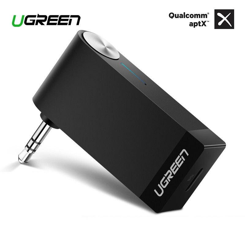 UGREEN 3 5mm AUX Bluetooth 4 1/4 2 Aptx Audio Music Car Receiver with  Mic(40757,30348)