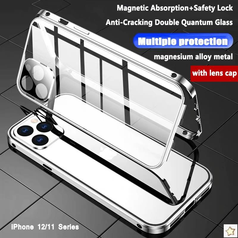 เคสโทรศัพท์มือถือแบบประกบสองด้านพร้อมเลนส์กล้องสําหรับ Iphone 12 Pro Max 12 Mini Iphone 11 Pro Max