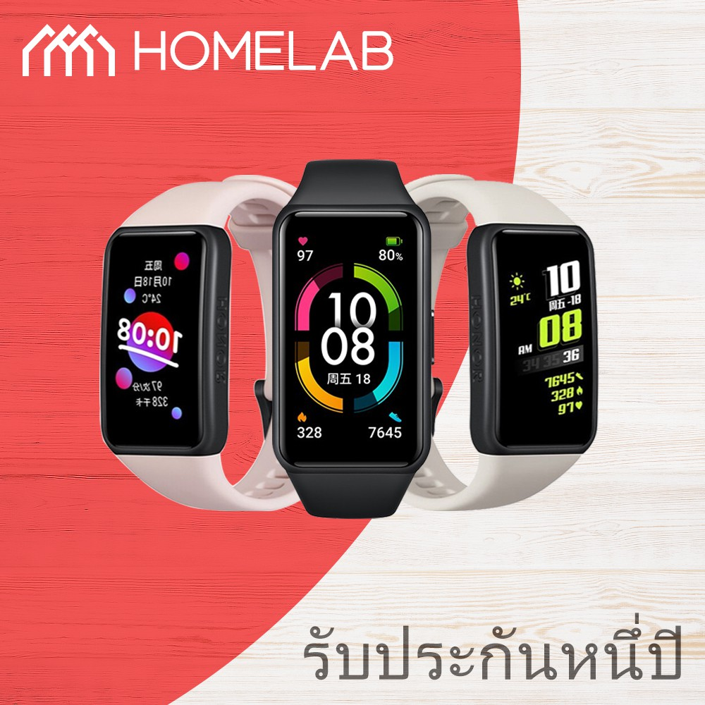 Huawei Honor Band 6 ที่ชาร์จสําหรับ 5 นาที Get 2 Day Usespo2 ออกซิเจนในเลือด