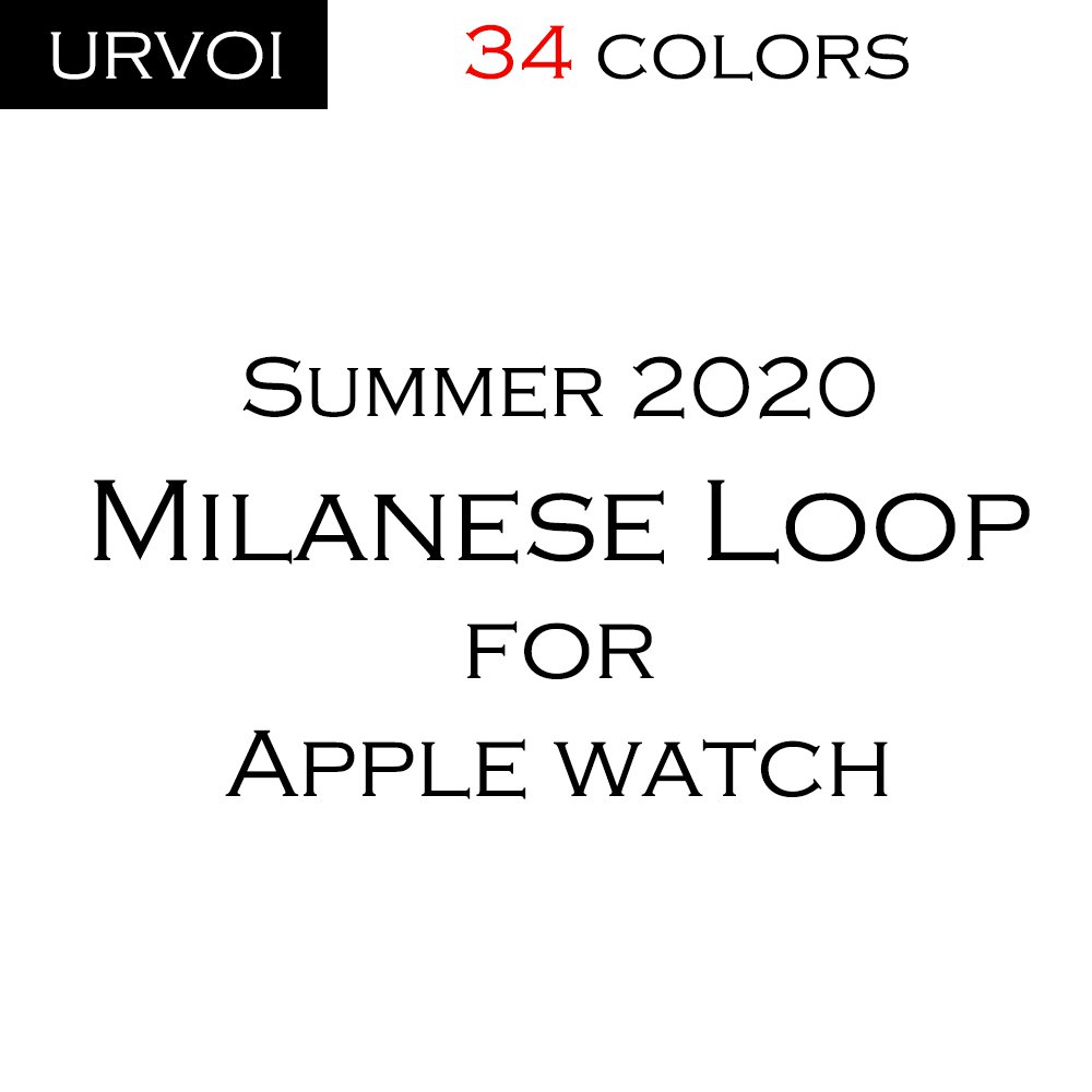URVOI mesh strap for apple watch series 6 SE 5 4 3 2 1 milanese loop band for iwatch stainless steel colors black silver