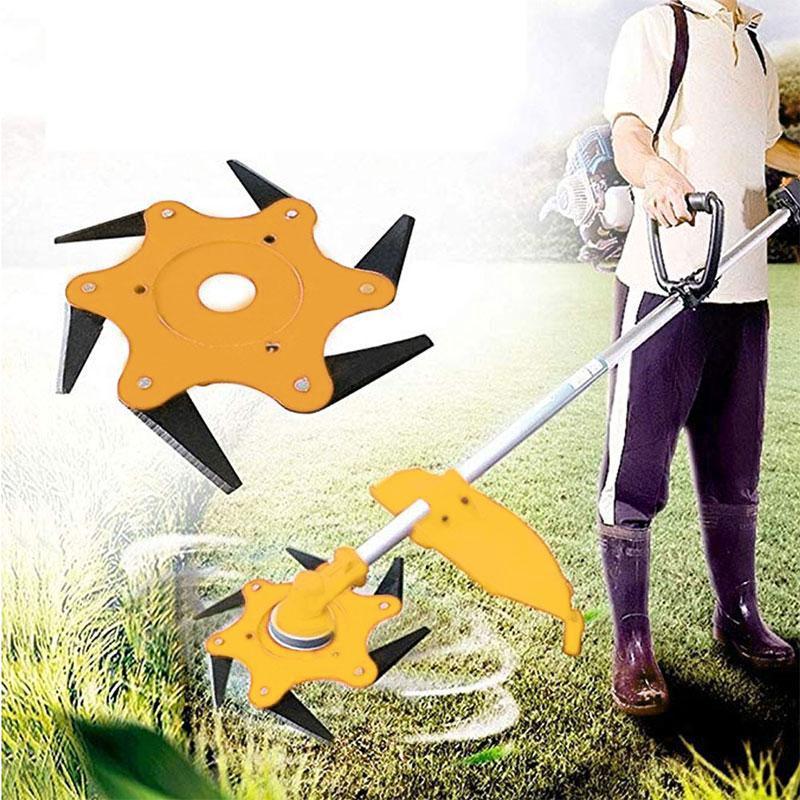 Strimmer Parts & Accessories 6 Steel Blades Razors 65Mn Lawn Mower Grass Eater Trimmer Head Brush Cutter Tool