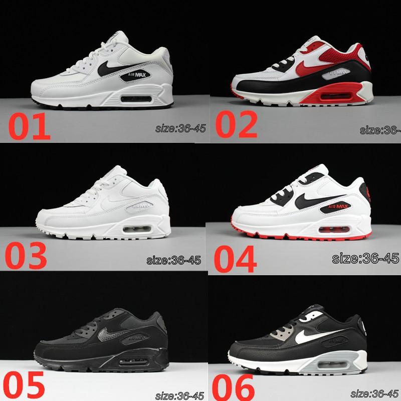 ของแท้% 💫 Nike Air Max 90 Essential White - รองเท้าไนกี้แอแม็ค 90 สีขาวล้วน รองเท้าผ้าใบ RC28