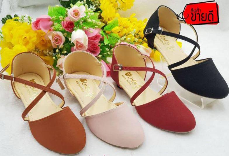 SALE!! รองเท้าส้นสูงเด็ก รองเท้าคัชชูเด็กผู้หญิง สูง1นิ้ว มี2สี ให้เลือก เบอร์31-36 (1คู่)