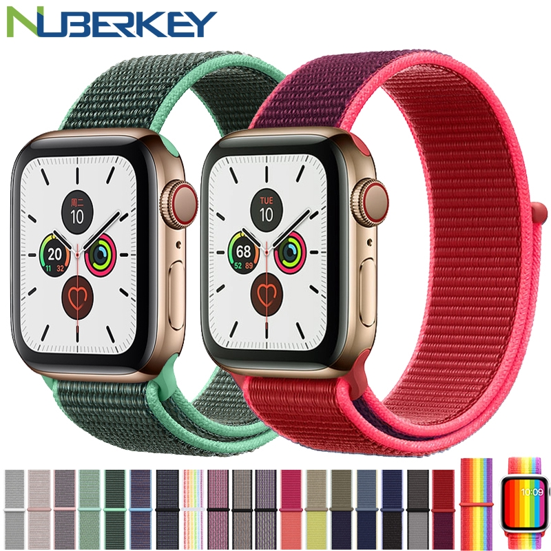 Nylon Band For Apple Watch Series 4 3/2/1 38MM 42MM Sport Loop for iwatch series 4 5 40MM 44MM