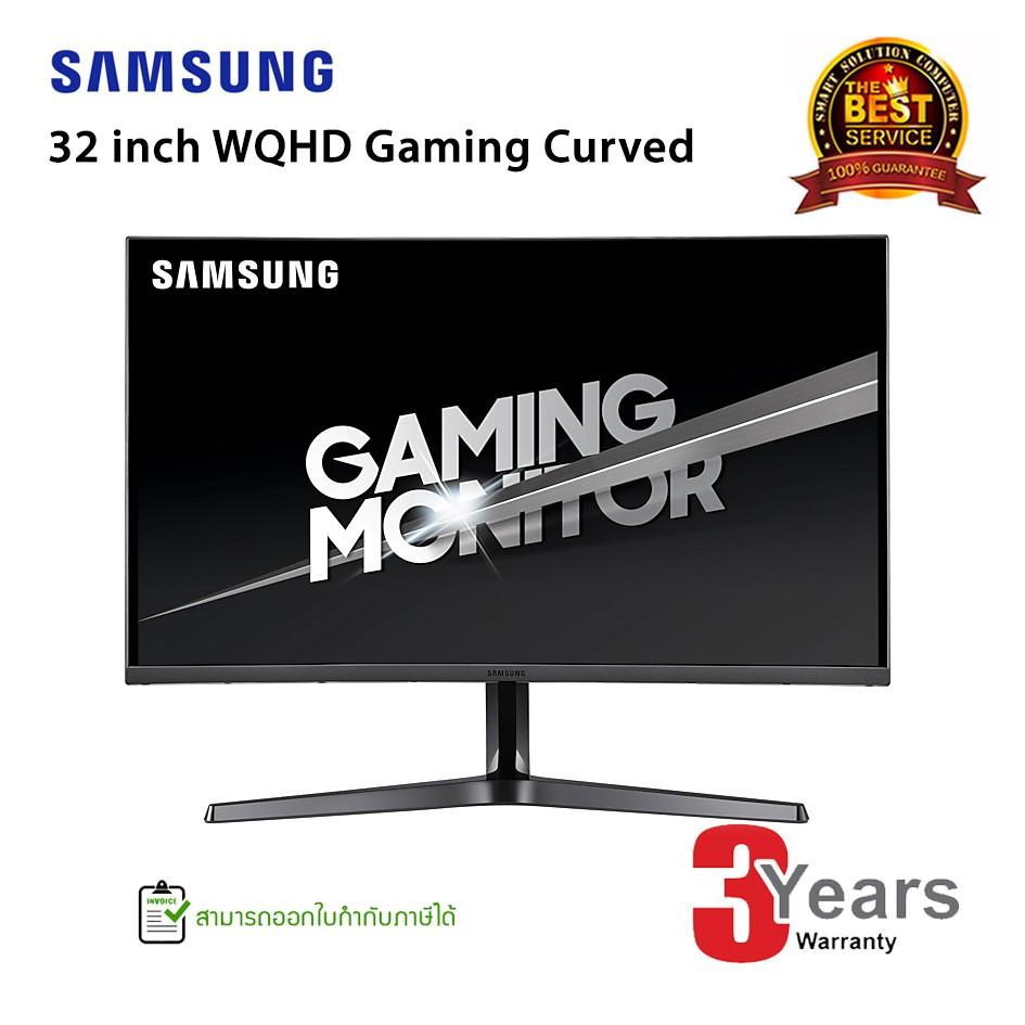 [โค้ด CLPLJKQ8 ลด 7%] Samsung 32 inch WQHD Gaming Curved Monitor (LC32JG54QQEXXT)