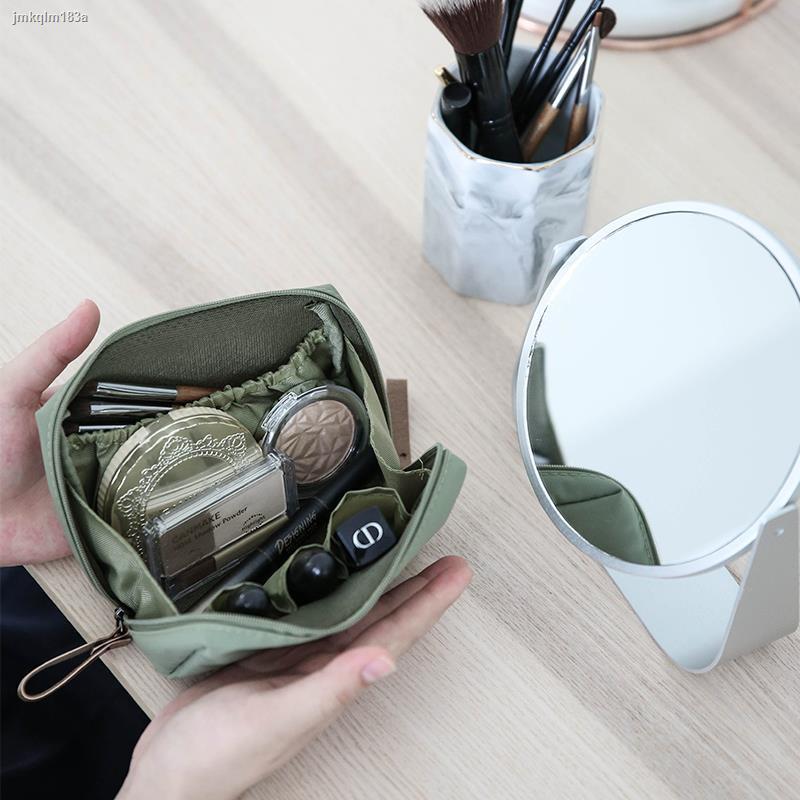 Lipstick bag✼Shuwu ins wind กระเป๋าเครื่องสำอางหญิงแบบพกพากระเป๋าใบเล็กกระเป๋าเดินทางขนาดเล็กลิปสติกแต่งหน้ากระเป๋าเก็บเ