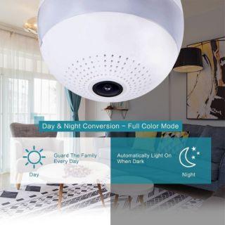 IP CAMERA กล้องหลอดไฟ 360 LED หลอดไฟแอลอีดี ติดกล้อง WIFI IP CAMERA