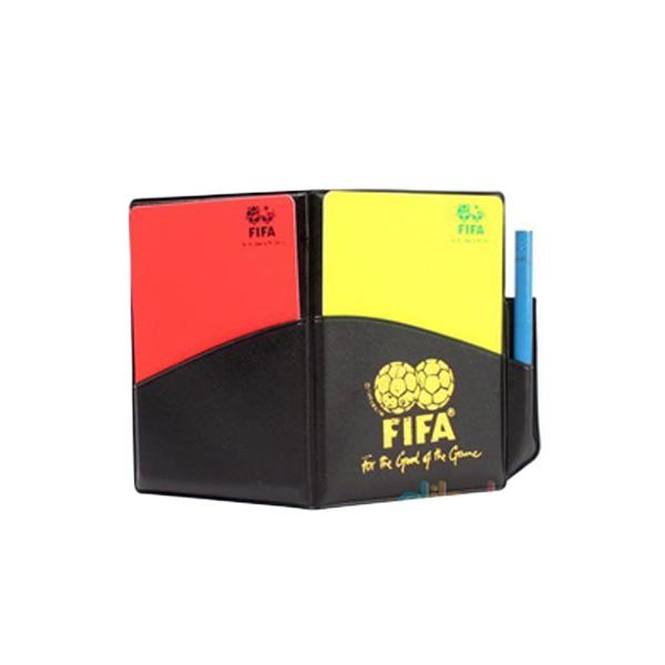 Bestprice 1920 กระเป๋าสมุดบันทึก มีใบเเดง ใบเหลือง สำหรับกรรมการฟุตบอล