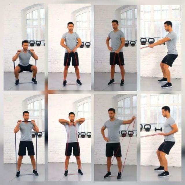 ยางยืดออกกำลังกาย TRAINING BAND BY DECATHLONผ้ายืดออกกำลังกาย ยางยืดแรงต้าน  ยางยืดออกกำลังกายแรงต้านสูง