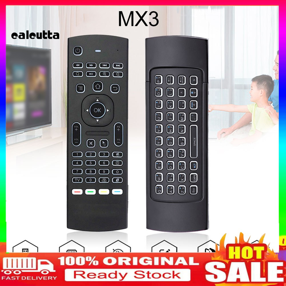 mx 3 2 . 4 g แอร์เมาส์แป้นพิมพ์รีโมทควบคุมแบบไร้สายสําหรับ x 96 h 96 android tv box