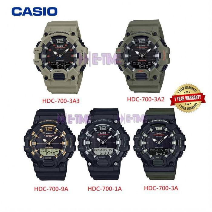 Casio HDC-700 แบตเตอรี่ 10 ปี ประกัน 1 ปี
