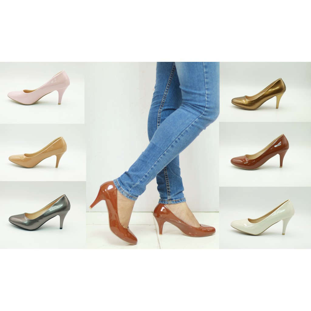 รองเท้าส้นสูง 5091-C1B รองเท้าผู้หญิง รองเท้าคัชชูส้นสูง แฟชั่น 3  นิ้ว FAIRYส้นสูง