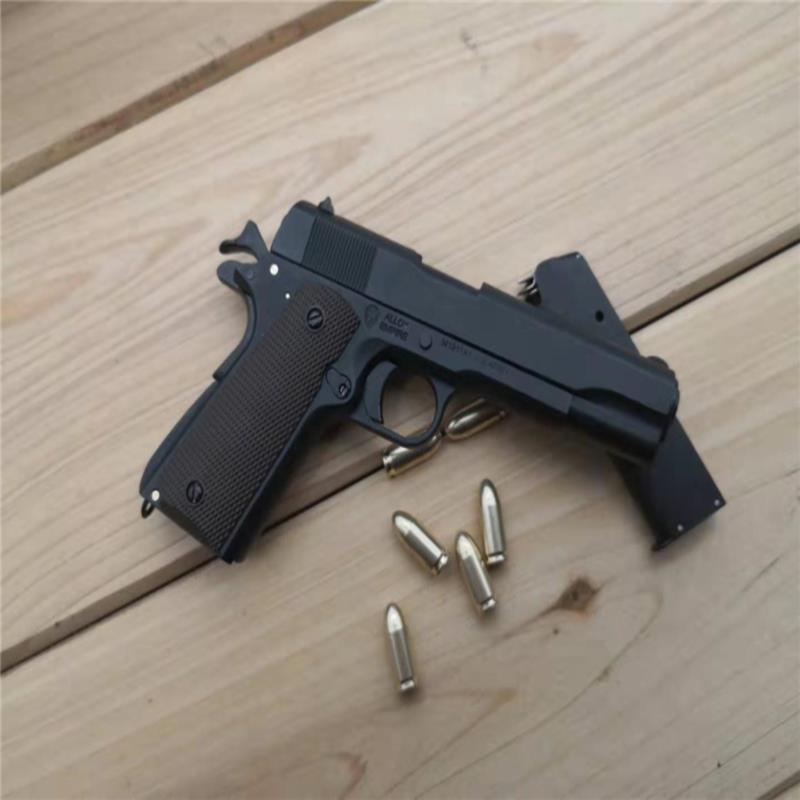 ☽✧❉1:2.05 อัลลอยเอ็มไพร์ M1911 Colt จำลองปืนพกรุ่นไม่สามารถยิงโลหะทั้งหมดที่ถอดออกได้