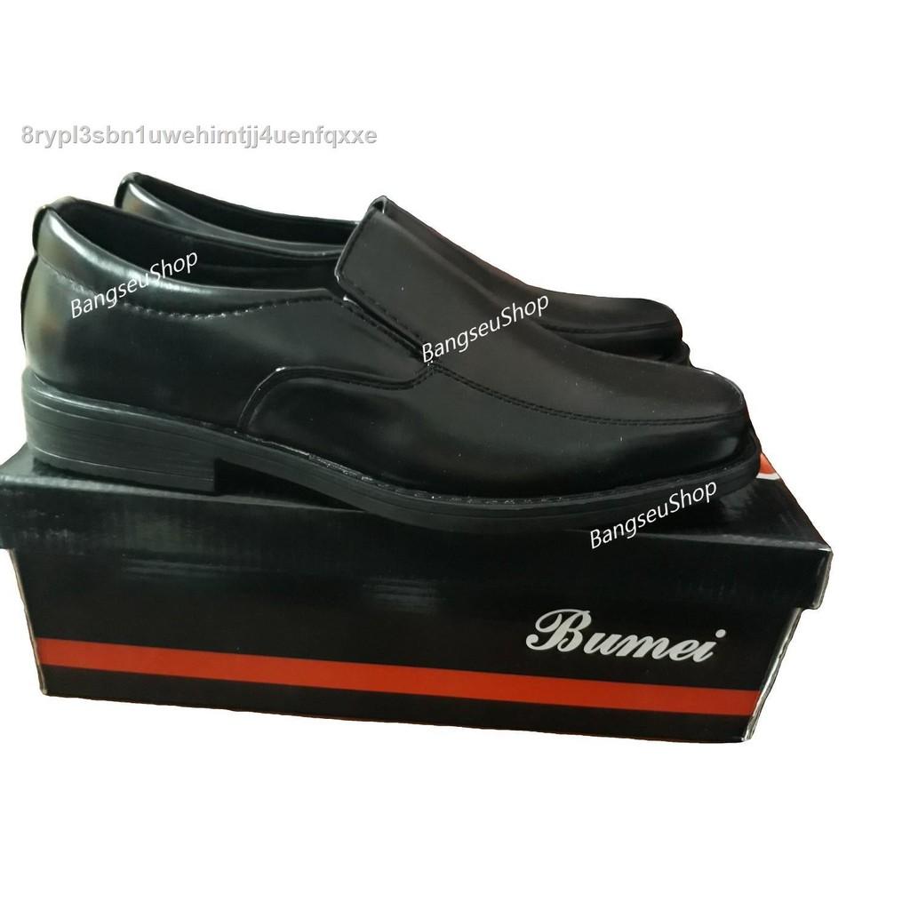 【รองเท้าผู้ชาย】☑รองเท้าคัชชูผู้ชายพื้นเย็บสีดำ