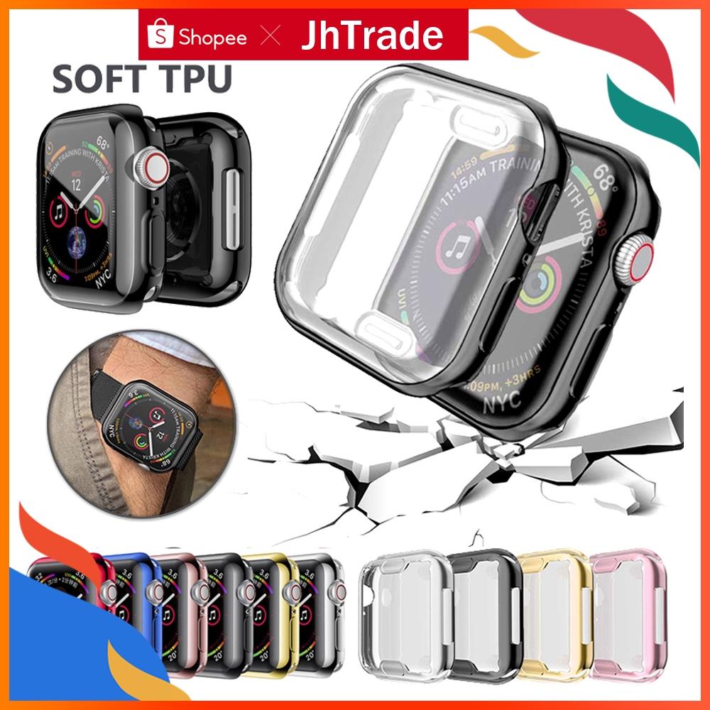 เคสนาฬิกาข้อมือ tpu สําหรับ apple watch series 5 4 3 2 1 band case 42 มม. 38 ม. 40 มม. 44 มม.