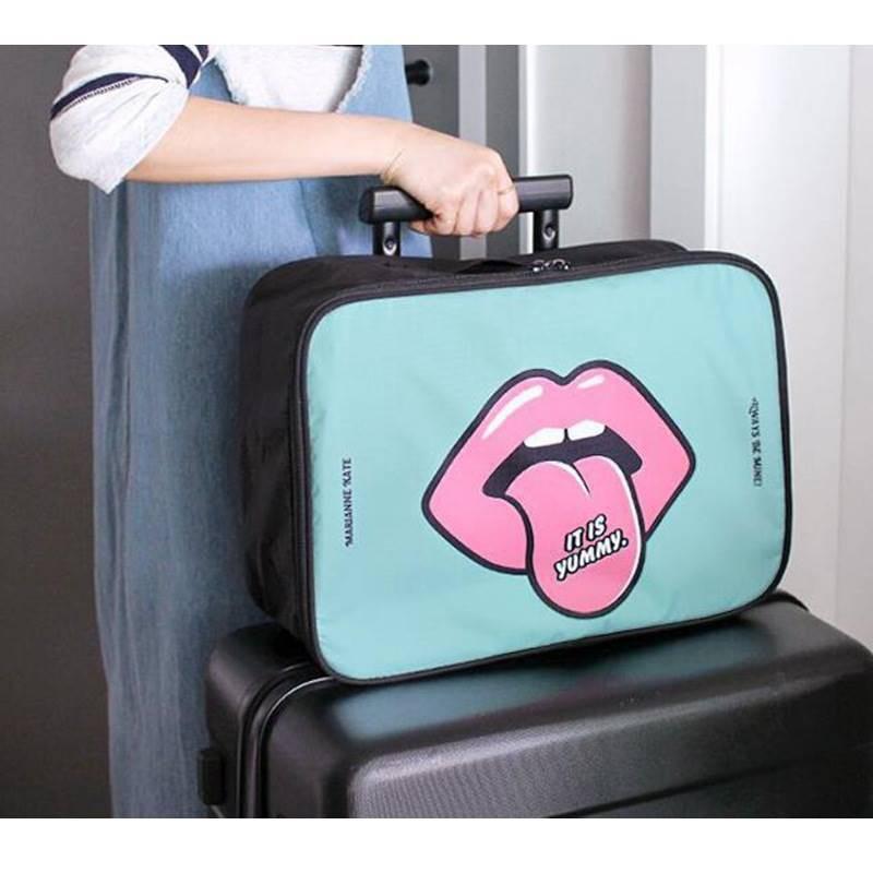 [พร้อม่ส่ง] กระเป๋าเดินทางใบเล็ก LT2 ผ้า nylon ด้าหลังมีช่อง สำหรับสวมกับตัวลากของกระเป๋าเดินทาง