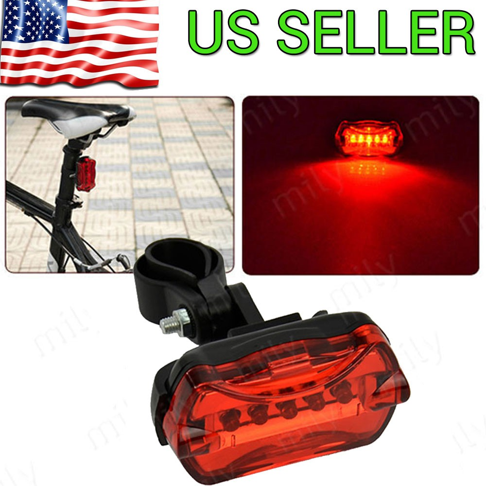 5 LED Bike Bicycle Safety Warning Tail Rear Lamp Flash Light Cycling Bright RF