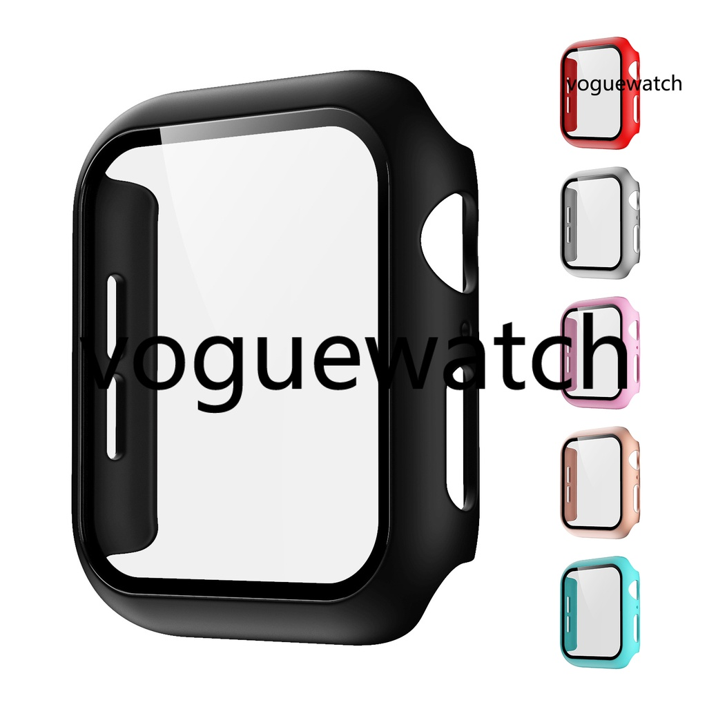 [ VOG ] Glass Case for Apple Watch Series S6 SE 40mm Scratch Resistant Screen Protector