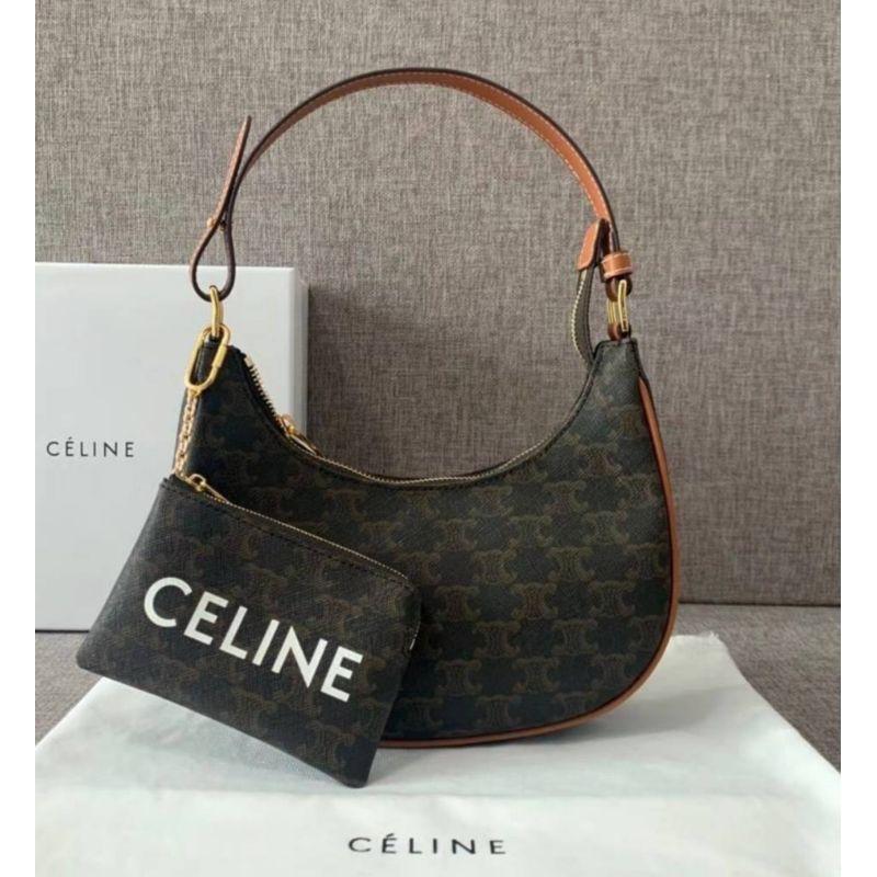 Celine Ava Triomphe Canvas Bag Original