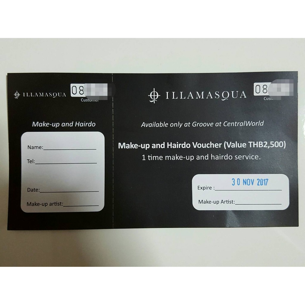 บัตรแต่งหน้า + 💄ทำผมของ Illamasqua #บัตรแต่งหน้า