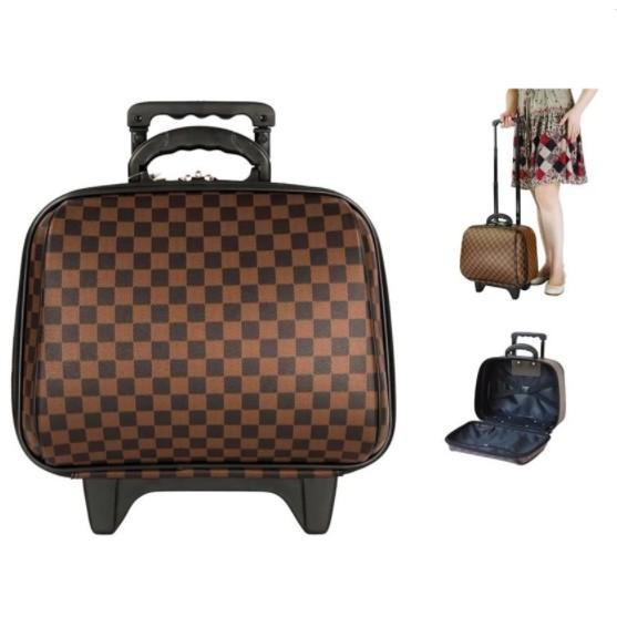 กระเป๋าเดินทางล้อลาก 14 นิ้ว สินค้าจากโรงงานผู้ผลิตโดยตรง แบรนด์ Mz Polo รุ่น Louise Classic 641B (Brown)