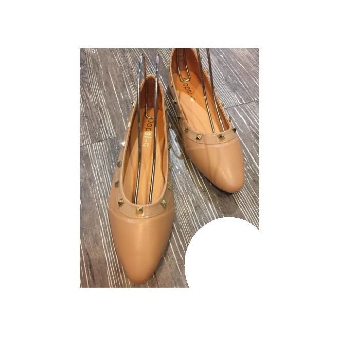 รองเท้าคัชชูผู้หญิงไซส์ใหญ่แต่งหนาม สี ครีม นู้ด ดำ