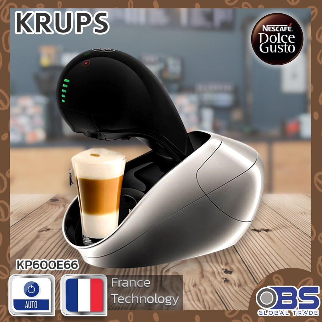 KRUPS เครื่องทำกาแฟแคปซูล รุ่น KP600E66 สีเงิน เครื่องทำกาแฟอัตโนมัติ เครื่องชงกาแฟอัตโนมัติ BS GLOBAL TRADING