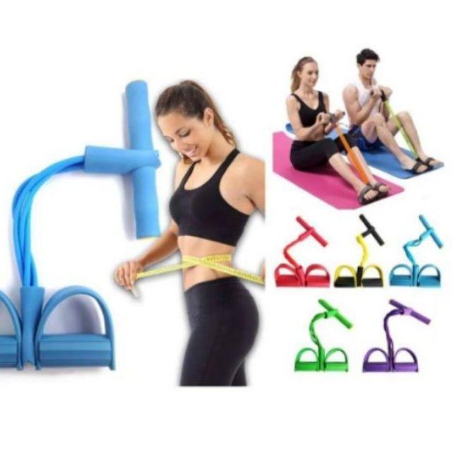 [พร้อมส่ง] ยางยืดออกกำลังกาย ยางยืดโยคะ  ยางยืดออกกำลังกายโยคะรุ่นนี้ยาง 4 เส้นหนา พร้อมส่ง
