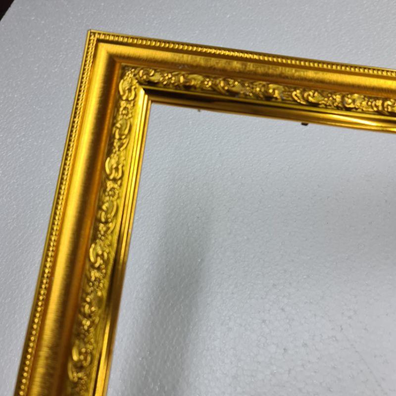 กรอบเปล่า ใส่รูป 15x20 นิ้ว พร้อมใส่กระจก สีทอง (ใส่รูปเองง่ายๆ) กรอบเปล่าราคาถูก ขายกรอบเปล่า ผ้ายันต์ พระ ครอสติส