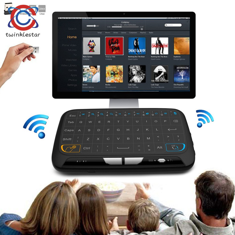 M-H18 Pocket 2 4GHz Wireless Touchpad Keyboard With Full Mouse For Android  TV Box Kodi HTPC IPTV PC PS3 Xbox 360