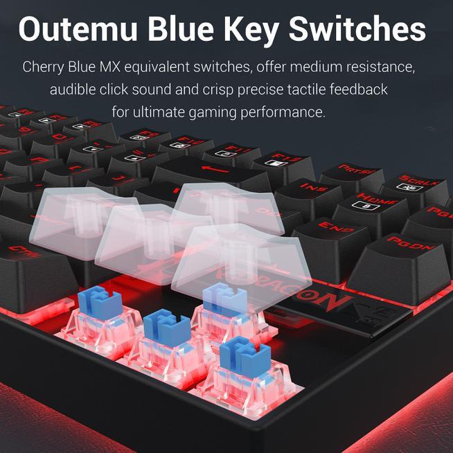 Oau-042 Redragon แป้นพิมพ์เล่นเกมวิศวกรรม Kumara - K552