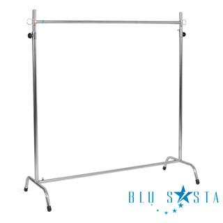 Blu Sasta ราวตากผ้า กว้าง1ม. ปรับขนาดสูงต่ำได้ (ฟรี ตะขอตัว S สเตนเลสจำนวน5ชิ้น)