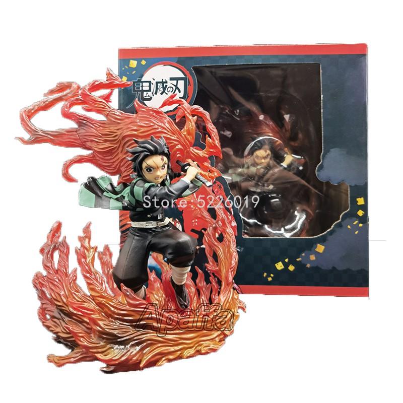 ™┅♂21 ซม. Anime Demon Slayer Figure ZERO Kamado Tanjirou Hinokami Kagura Action Figure Kimetsu no Yaiba Kochou Shinobu F