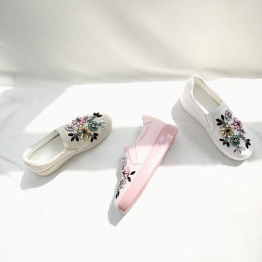 Annabella_officials พร้อมส่ง รองเท้าเกาหลี คัชชู รุ่น Sober Pink