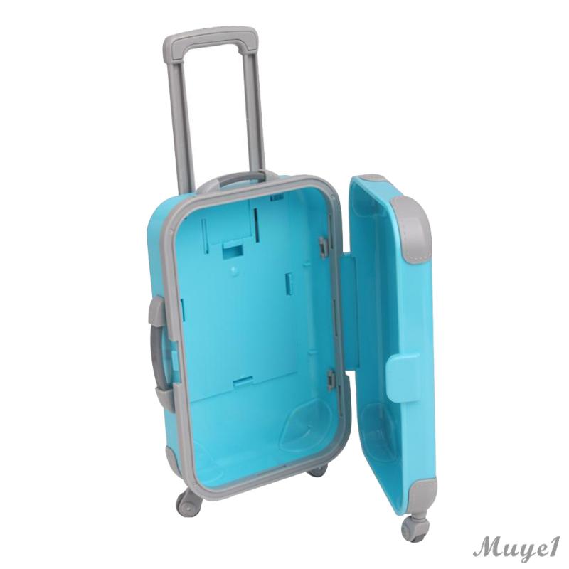 กระเป๋าเดินทางพลาสติก 3 D ขนาด 18 นิ้วสําหรับตกแต่งบ้านตุ๊กตา