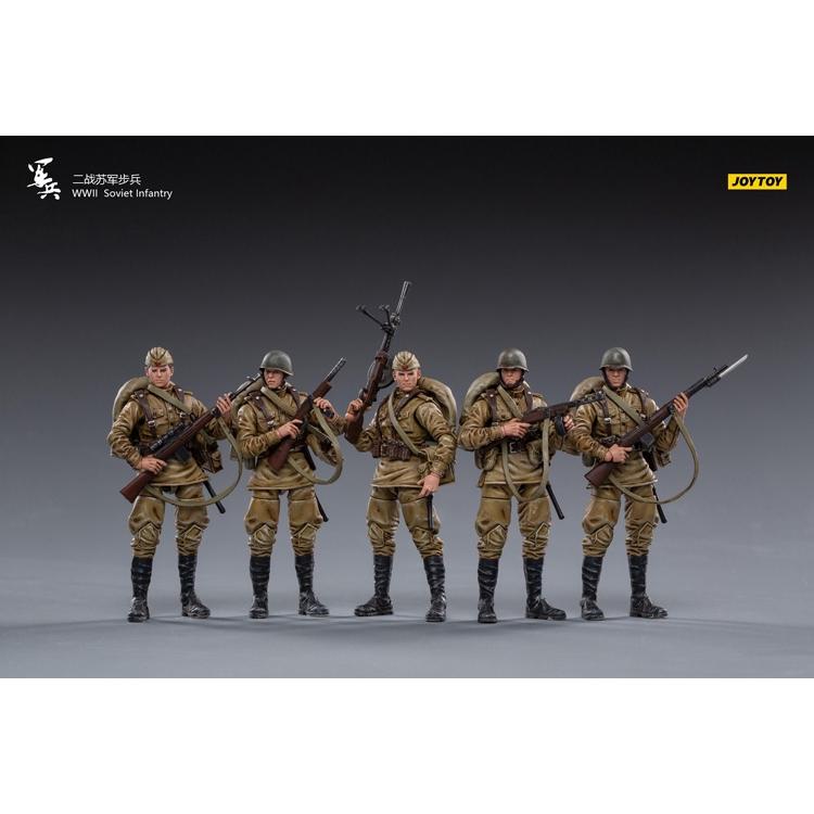 [In Stock] 1/18 Figure - Joy Toy - WWII Soviet Infantry