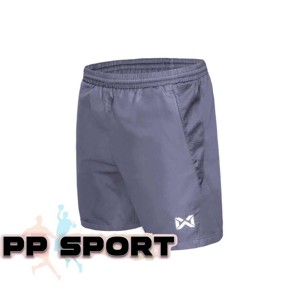 กางเกงขาสั้นเอวยางยืดสีเทา กางเกงออกกำลังกาย warrix WP 3108