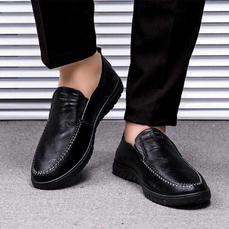 รองเท้าคัชชูผู้ชาย รองเท้าหนังผู้ชาย MMC รองเท้าผ้าใบ รองเท้าผ้าใบผู้ชาย รองเท้าแฟชั่น No.9134สีดำ